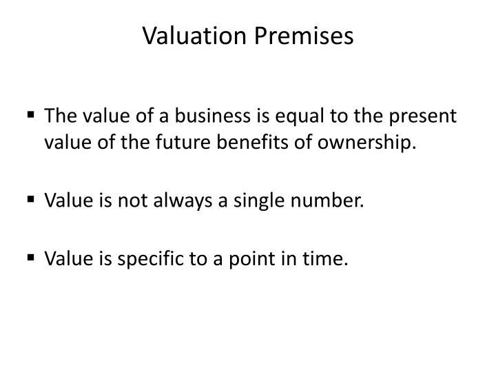 Valuation Premises