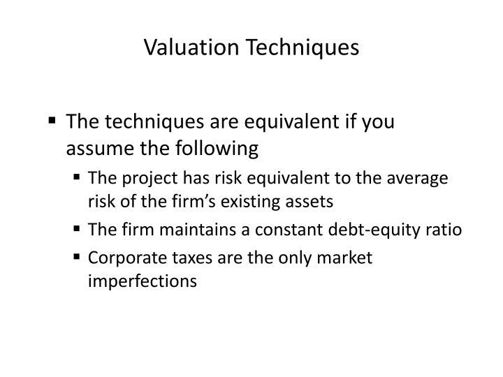 Valuation Techniques