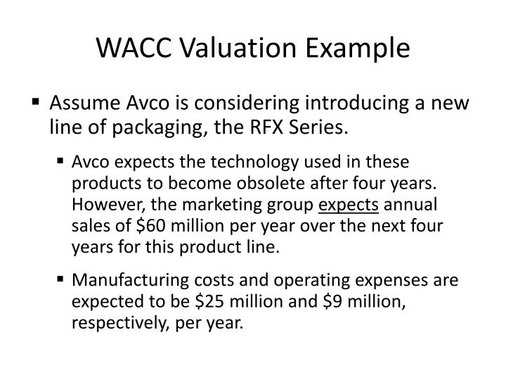 WACC Valuation Example