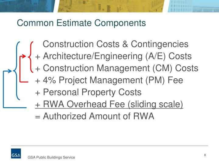 Common Estimate Components