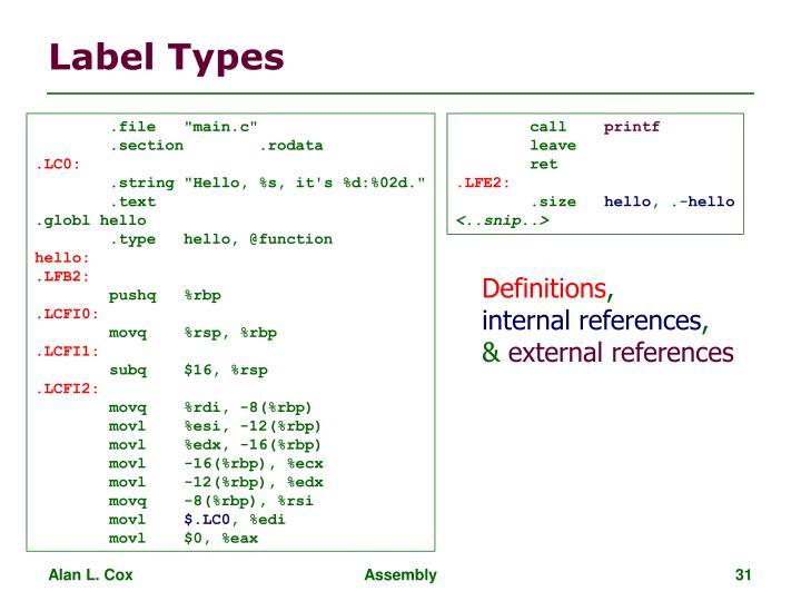Label Types