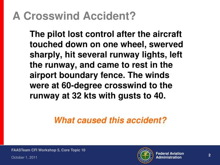 A crosswind accident