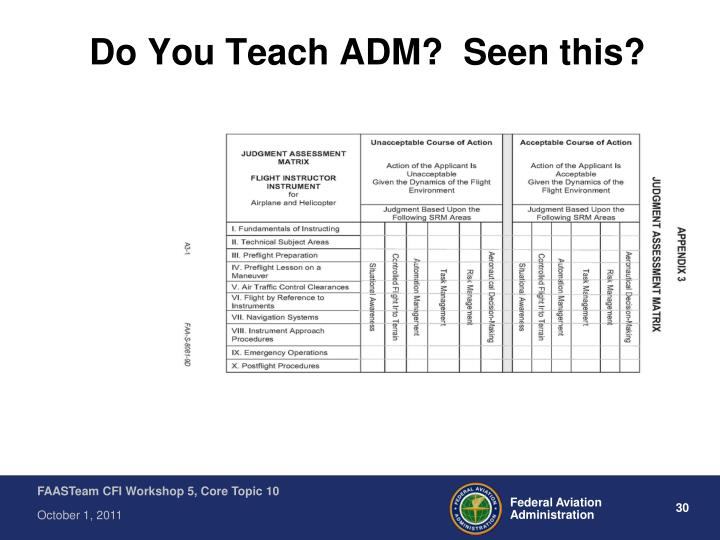 Do You Teach ADM?  Seen this?