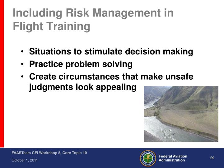 Including Risk Management in