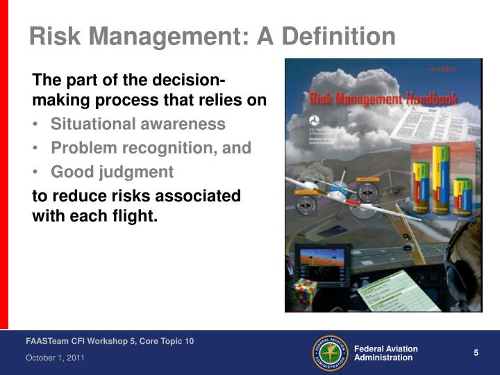 Risk Management: A Definition