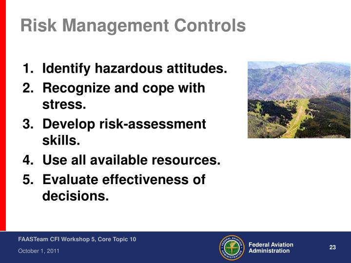 Risk Management Controls