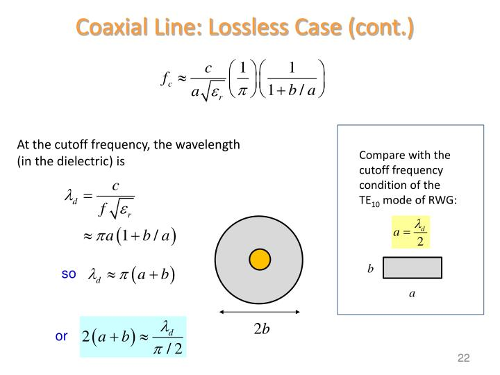 Coaxial Line: Lossless Case (cont.)