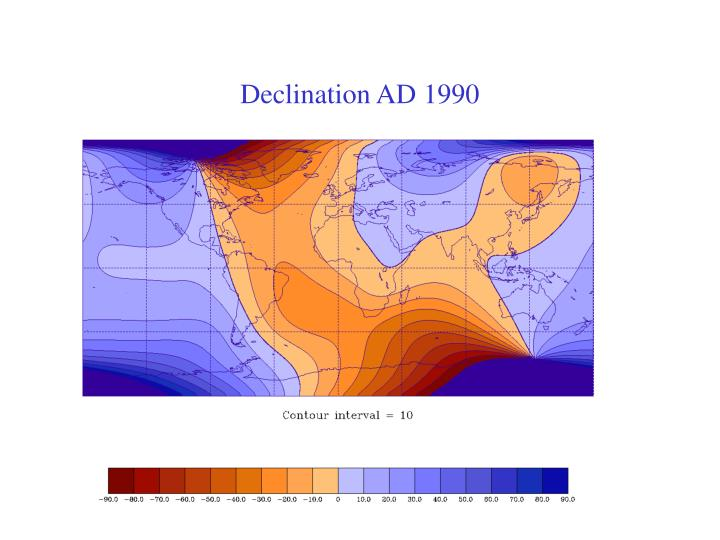 Declination AD 1990