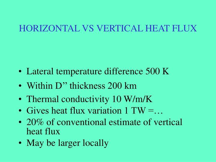 HORIZONTAL VS VERTICAL HEAT FLUX