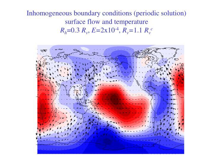 Inhomogeneous boundary conditions (periodic solution)