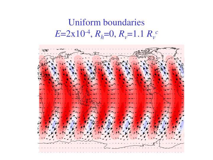 Uniform boundaries