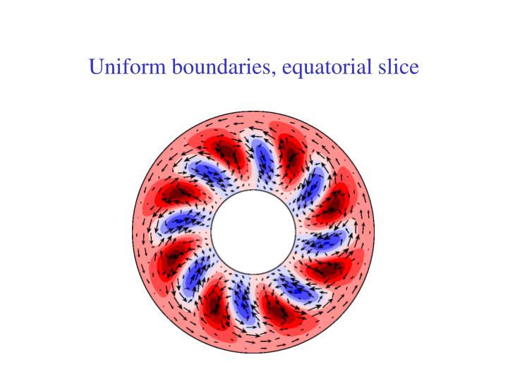 Uniform boundaries, equatorial slice