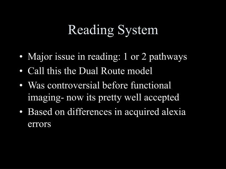 Reading System