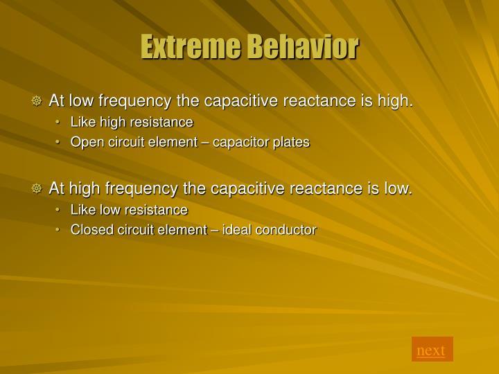 Extreme Behavior