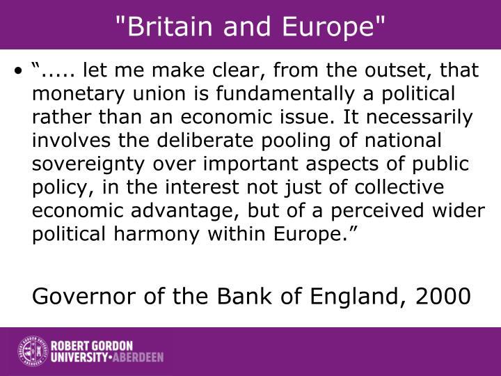 """Britain and Europe"""