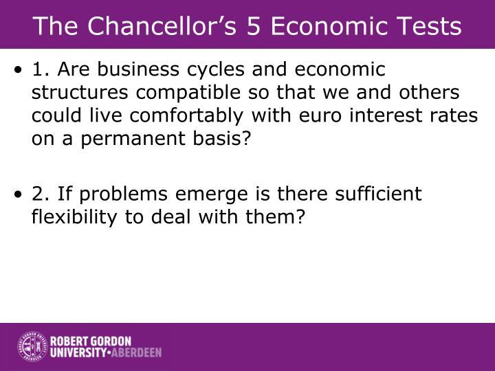 The Chancellor's 5 Economic Tests