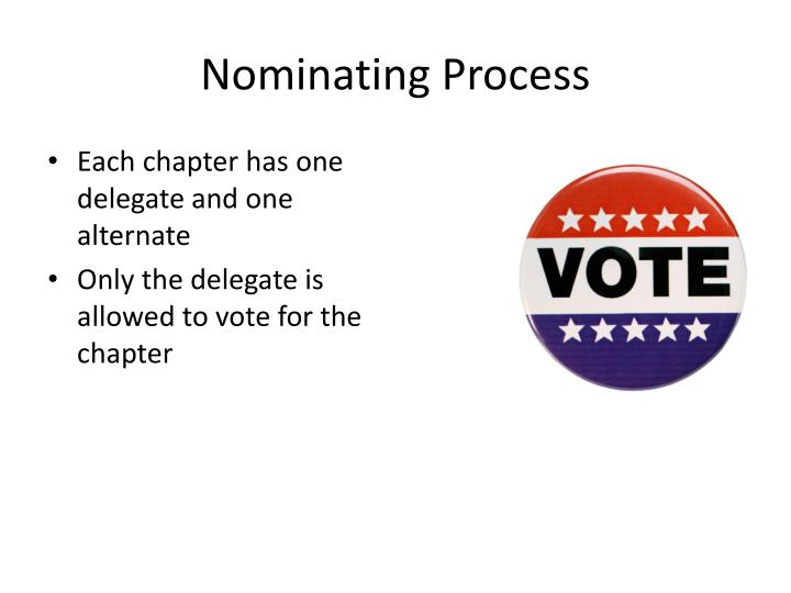 Nominating process