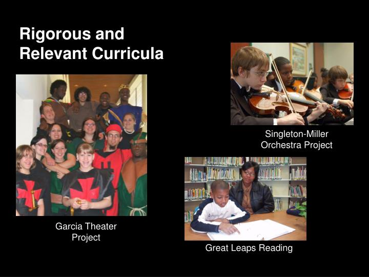 Rigorous and Relevant Curricula