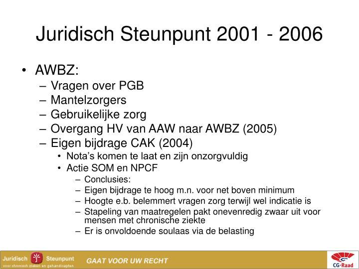 Juridisch Steunpunt 2001 - 2006