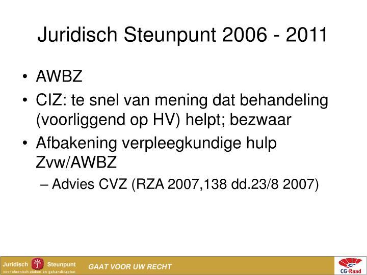 Juridisch Steunpunt 2006 - 2011