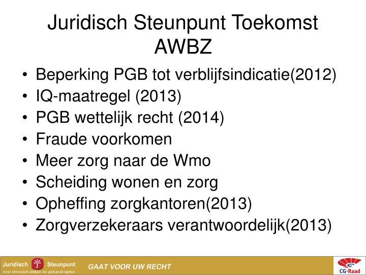 Juridisch Steunpunt Toekomst AWBZ