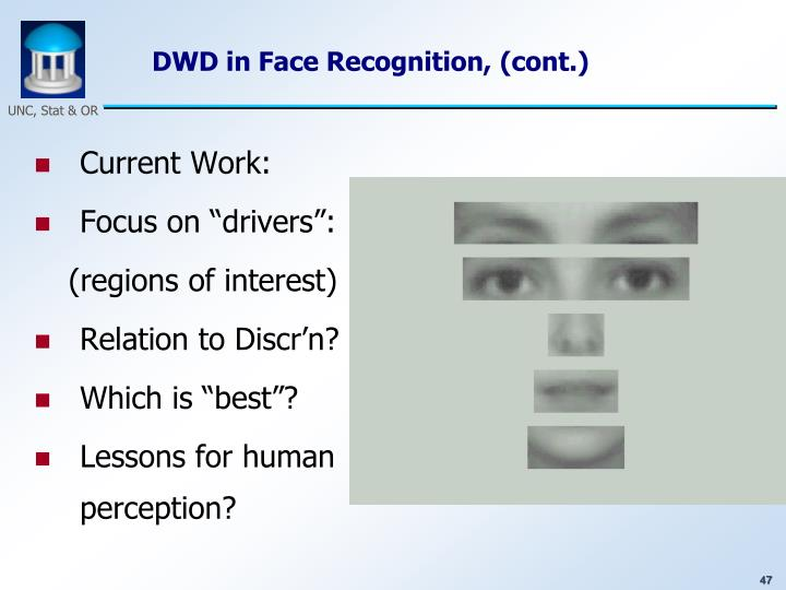 DWD in Face Recognition, (cont.)