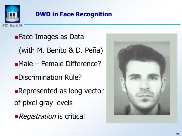 DWD in Face Recognition