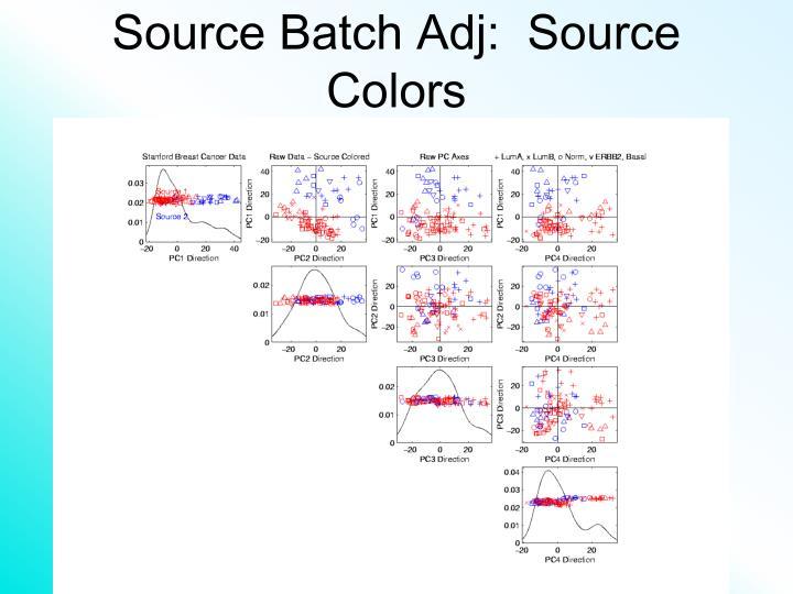 Source Batch Adj:  Source Colors