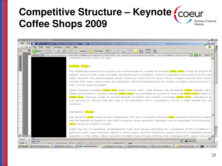 Competitive Structure – Keynote