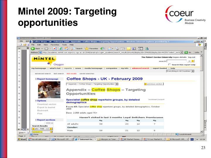 Mintel 2009: Targeting