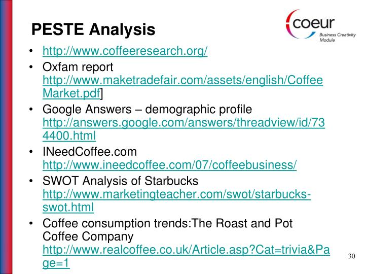 PESTE Analysis