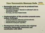 new renewable biomass defn