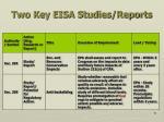 two key eisa studies reports