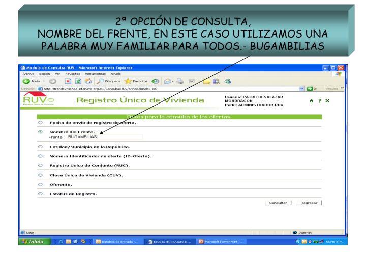 2ª OPCIÓN DE CONSULTA,