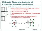 ultimate strength analysis of eccentric bolted connections1