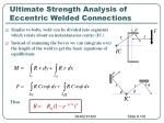 ultimate strength analysis of eccentric welded connections1