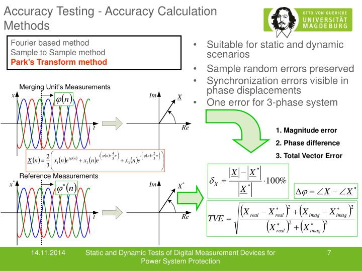 Accuracy Testing - Accuracy Calculation Methods