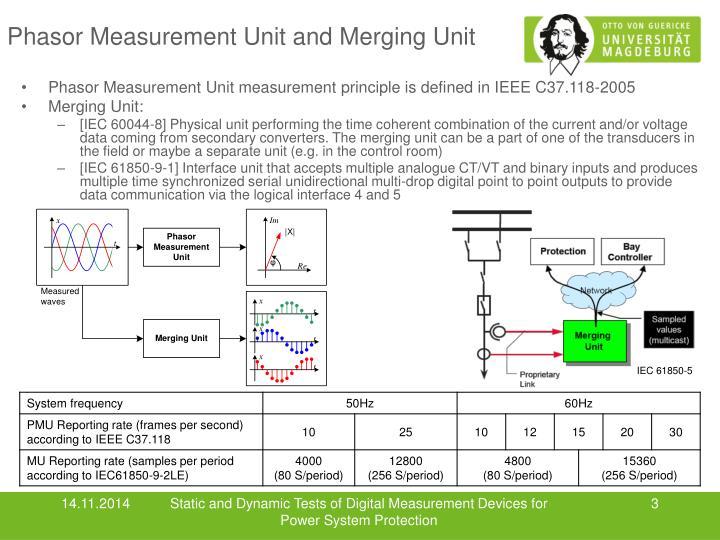 Phasor measurement unit and merging unit