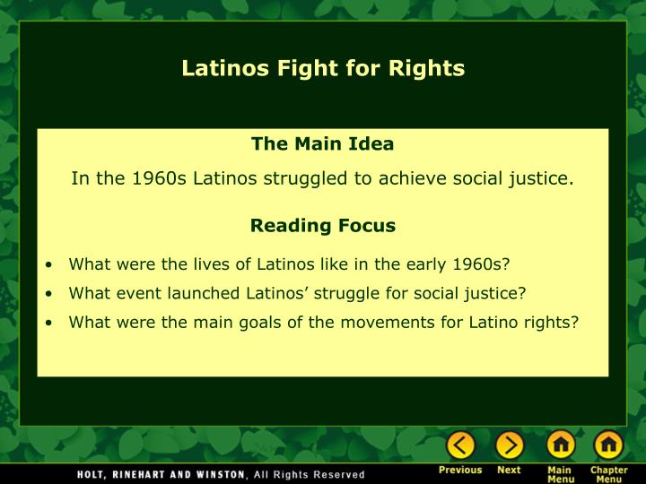 Latinos Fight for Rights