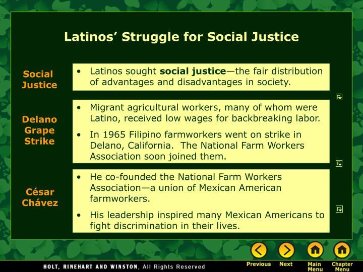 Latinos' Struggle for Social Justice