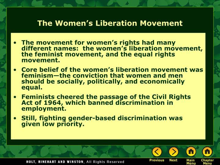 The women s liberation movement