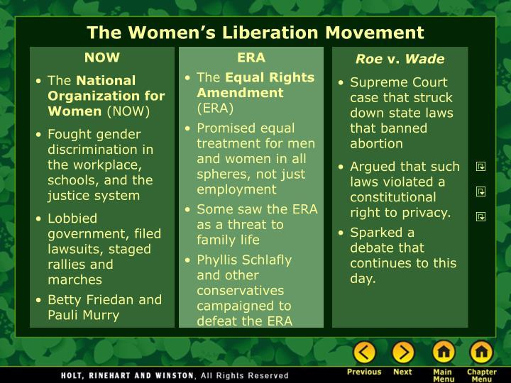 The women s liberation movement1