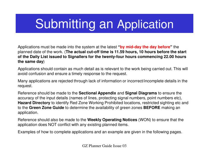 Submitting an