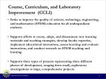 course curriculum and laboratory improvement ccli