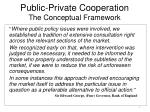 public private cooperation the conceptual framework