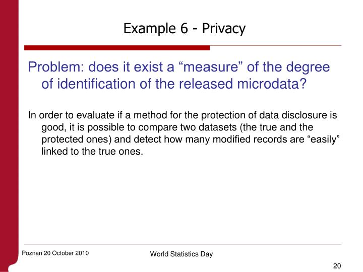 Example 6 - Privacy