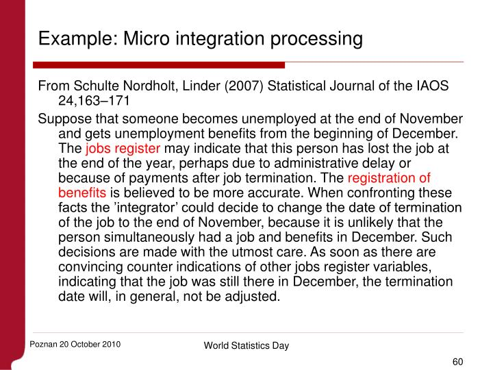Example: Micro integration processing