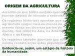 origem da agricultura