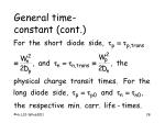 general time constant cont