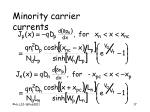 minority carrier currents